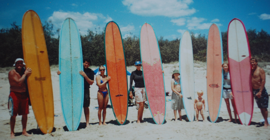 Cover shot from 2000 and Tom Wegener Surfboards Team 2001