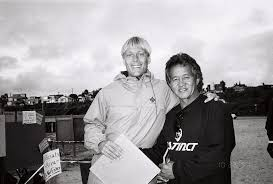 Photo: Tom with Donald Takayama the day Tom won the Cardiff Reef Clean Ocean Contest